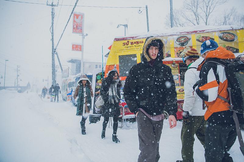 niseko united hirafu snowy streets