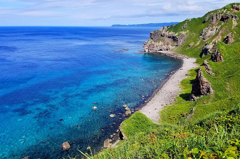 shakotan peninsula blue hokkaido japan