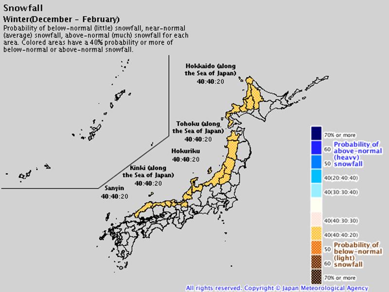 snowfall japan winter 2019-20