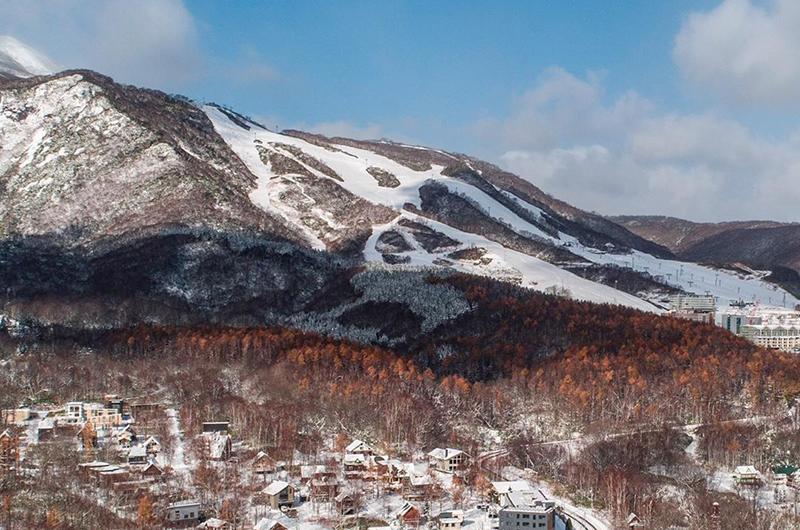 first snow hirafu niseko japan