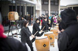 niseko hanazono new year taiko drumming
