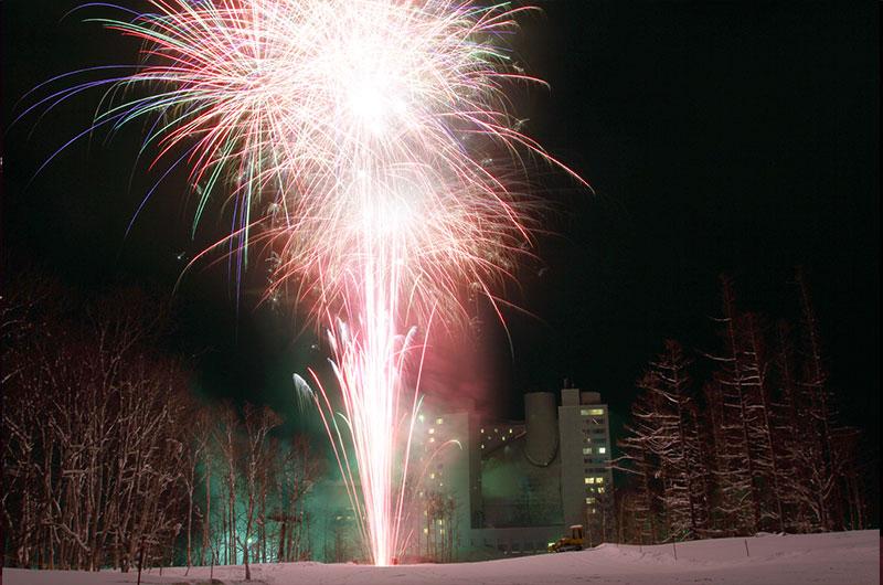 niseko village chinese new year fireworks
