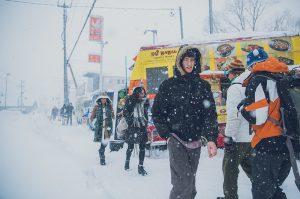 niseko hirafu snowy streets
