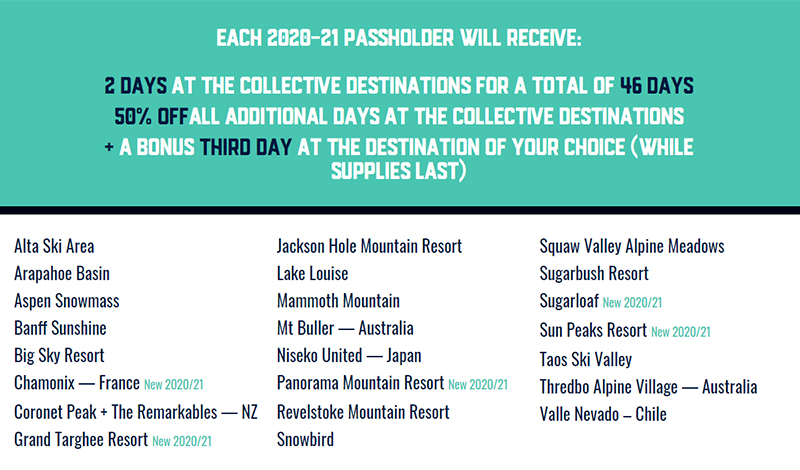 The Mountain Collective Pass Details