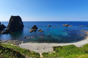 shimamui coast shakotan peninsula hokkaido japan