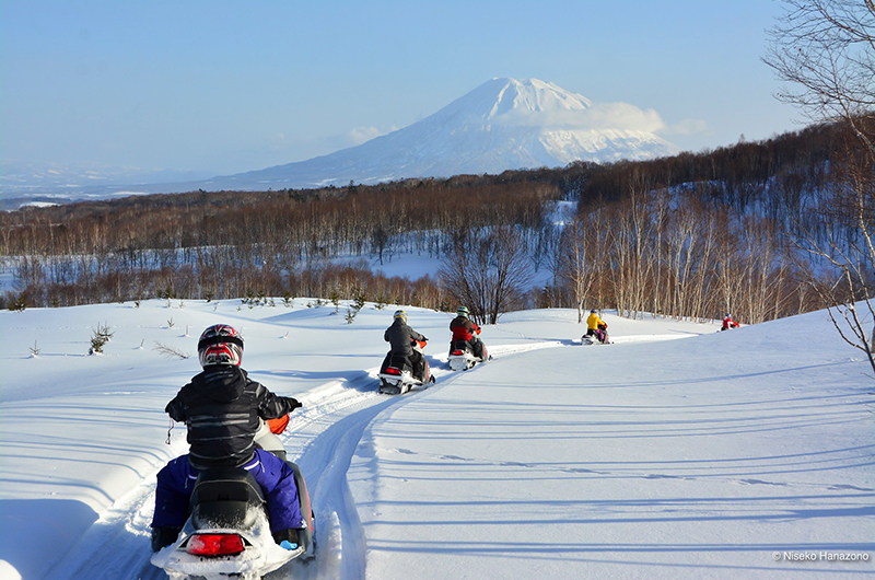 niseko japan snowmobiling family activities