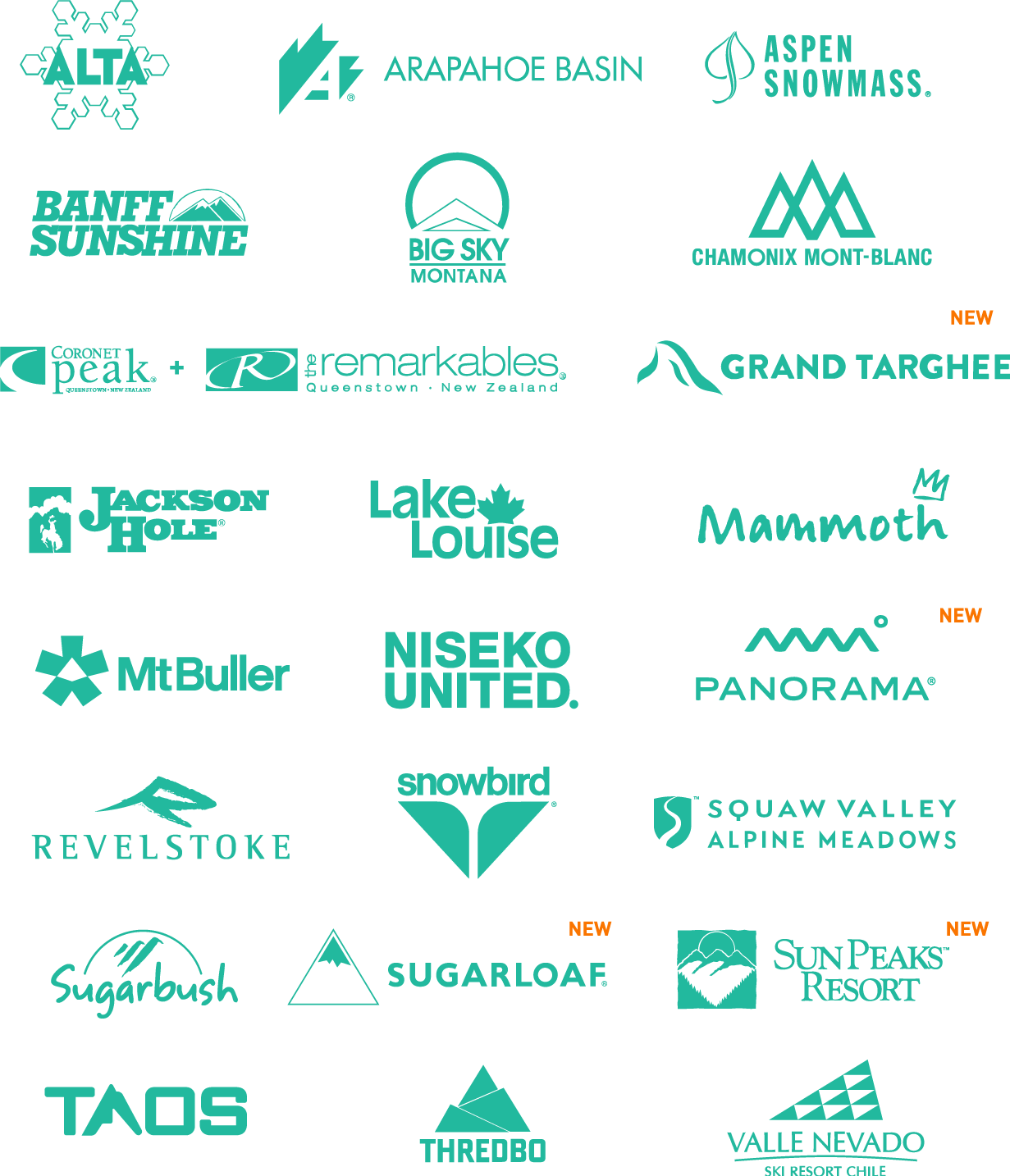 Mountain Collective 2020-21 member resort list