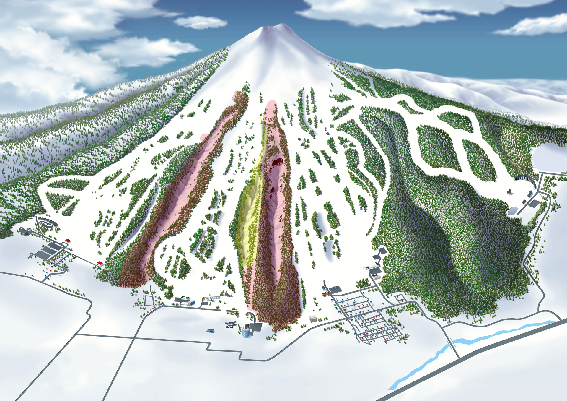Niseko United slope map.